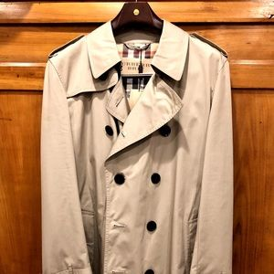 Burberry Brit Double-Breasted Trench - Taupe NWT